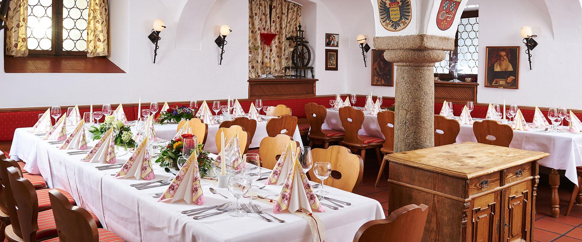Innenansicht des Restaurants Gäubodenhof in Straubing